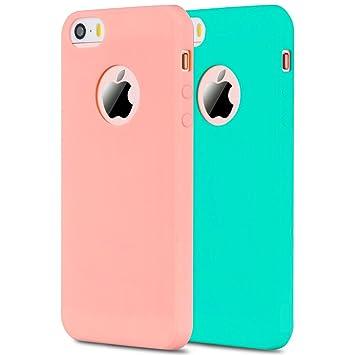 2x iPhone 5S / SE / 5 Funda, Carcasa iPhone SE, Anfire ...