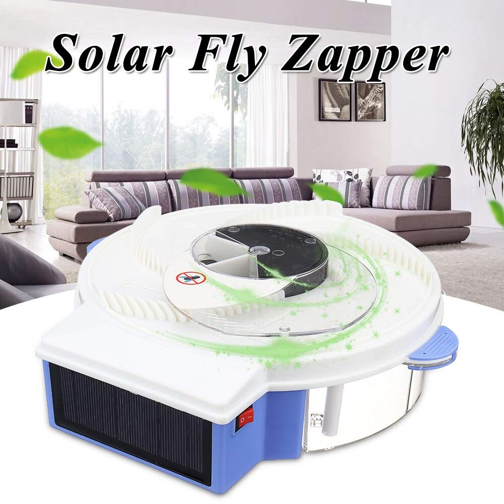 1Pcs Solar Power Fly Kill Zapper Rechargeable Fly Insect Bug Mosquito Kill Zapper Killer for Family picnics, Home, Restaurant