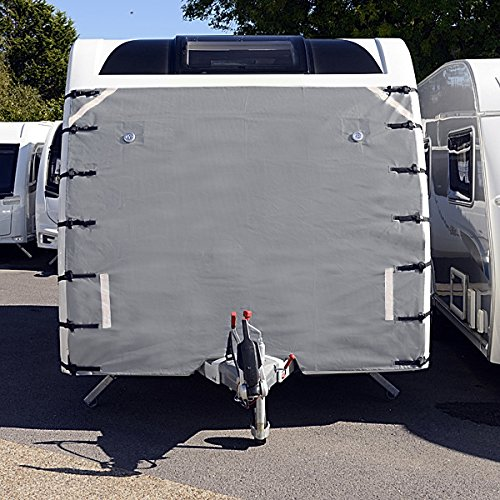 UK Wholesale Caravan Front Towing Cover   Protector Covers Accessories Universal   LIGHT GREY