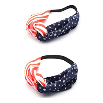 Amazon.com   Elastic Hairband Hair Accessories for 4th of July Stars  Stripes Headwrap TS06-A   Beauty 5755f0943f91