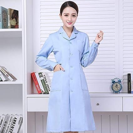 OPPP Ropa médica Enfermera Que Lleva el Cuerpo de reparación Azul, Cuello Redondo, pasantía