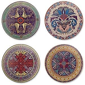 Epic Products Arabesque Stone Coasters, Set of 4