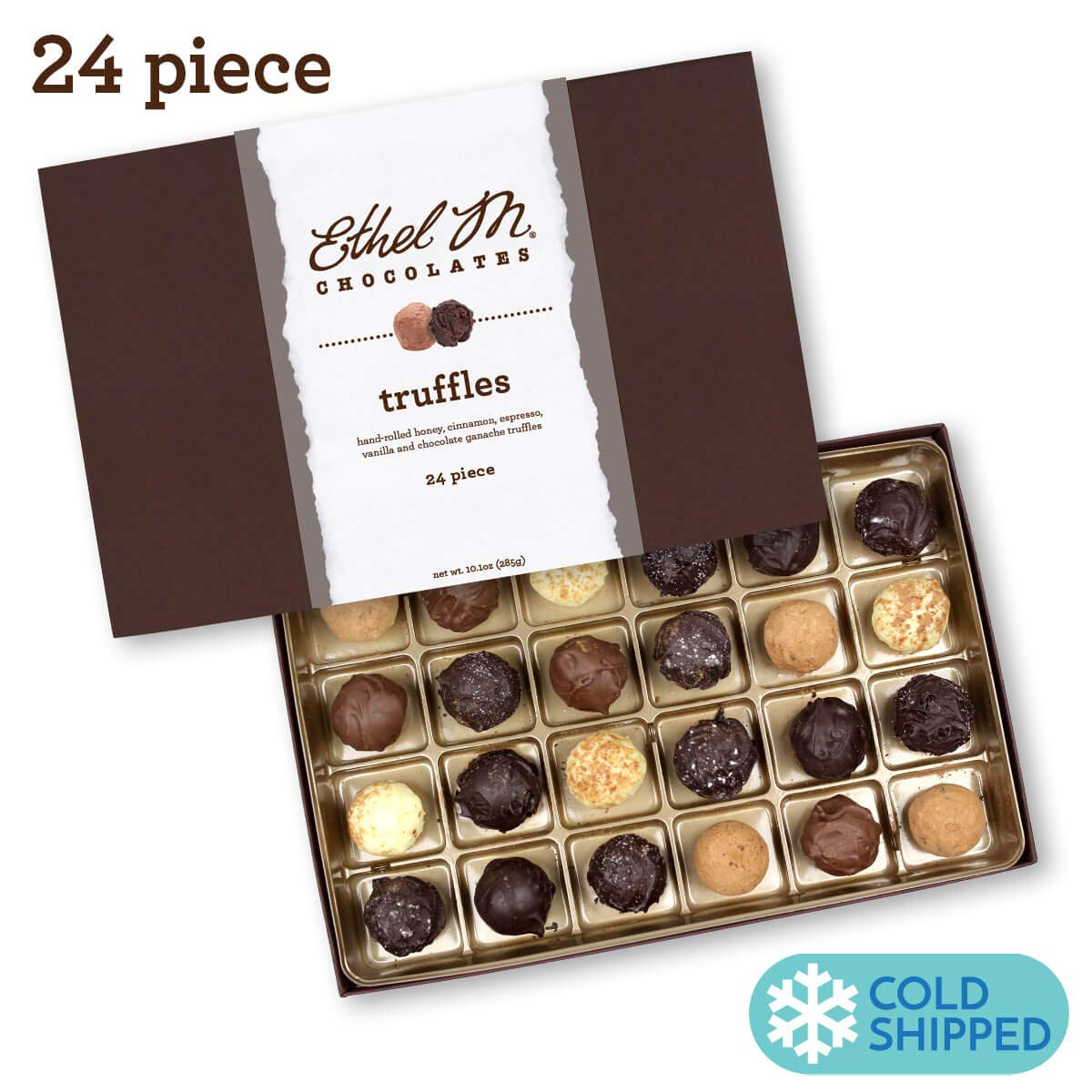 Ethel M Chocolates Truffle Collection 24 piece by Ethel M. Chocolates