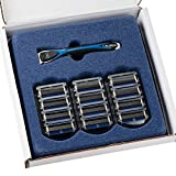 Personna Men's 5 Blade Razor with 12 Replacement Cartridges
