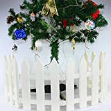 IEVE 4 PCS White Fence Christmas Xmas Tree Wedding Party Decoration Miniature Home Garden(One pack is 100cm in total)
