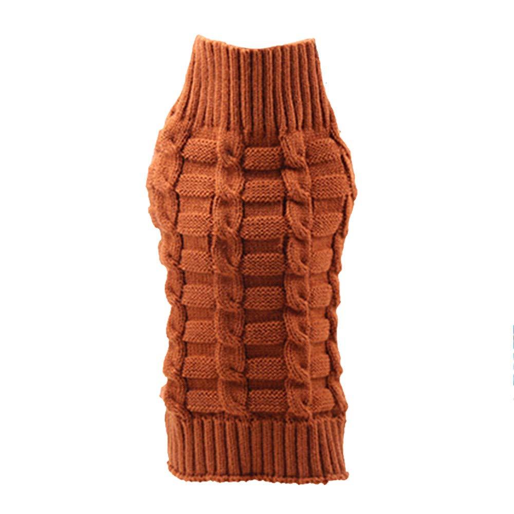Angelof pour Chien/Chat Accessoires Animal De Compagnie Hiver Chaud Col Roulé Chandail VêTements Costume Violet XL