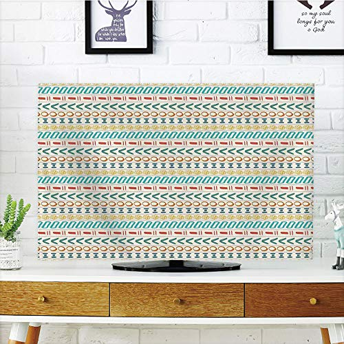 Cheap  iPrint LCD TV dust Cover Strong Durability,Striped,Ethnic Cultural Striped Boho Motif Traditional..