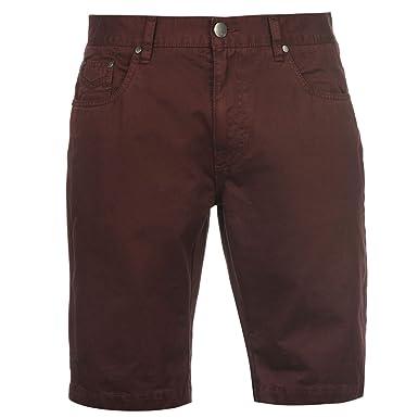 Firetrap Herren Denim Shorts Kurze Jeanshose 5 Taschen Design Baumwolle  Burgund Small: Amazon.de: Bekleidung
