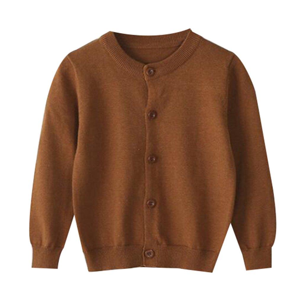 TAIYCYXGAN Baby Girls Boys Knit Cardigan Sweater Kids School Uniform Button Sweater Jacket Long Sleeves Clothes