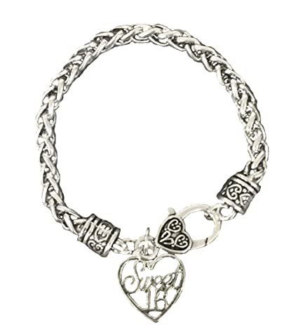 167f7849f34 Amazon.com   Sweet 16 Bracelet- Girls Sweet 16 Jewelry - Perfect Birthday  Gift For Girls Sixteenth Birthday   Sports   Outdoors