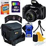 Canon Powershot SX540 HS 20.3MP Digital Camera with 50x Optical Zoom, Built-in Wi-Fi & Full HD 1080p Video (International Version) + 7pc 8GB Accessory Kit w/ HeroFiber Ultra Gentle Cleaning Cloth