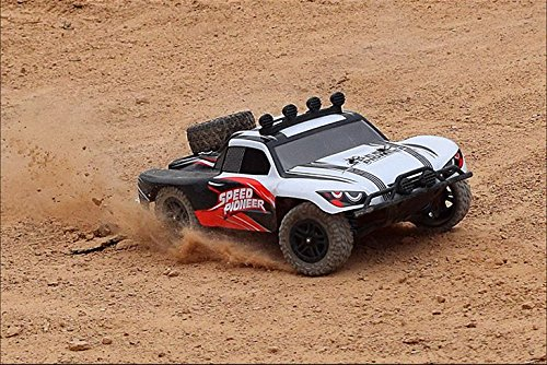Novcolxya Model Cars RC Electric Racing Car 1/18 Scale Off-Road 2.4-Ghz Radio Remote control 4WD High Speed 30MPH, White (Rc Police Car With Camera)