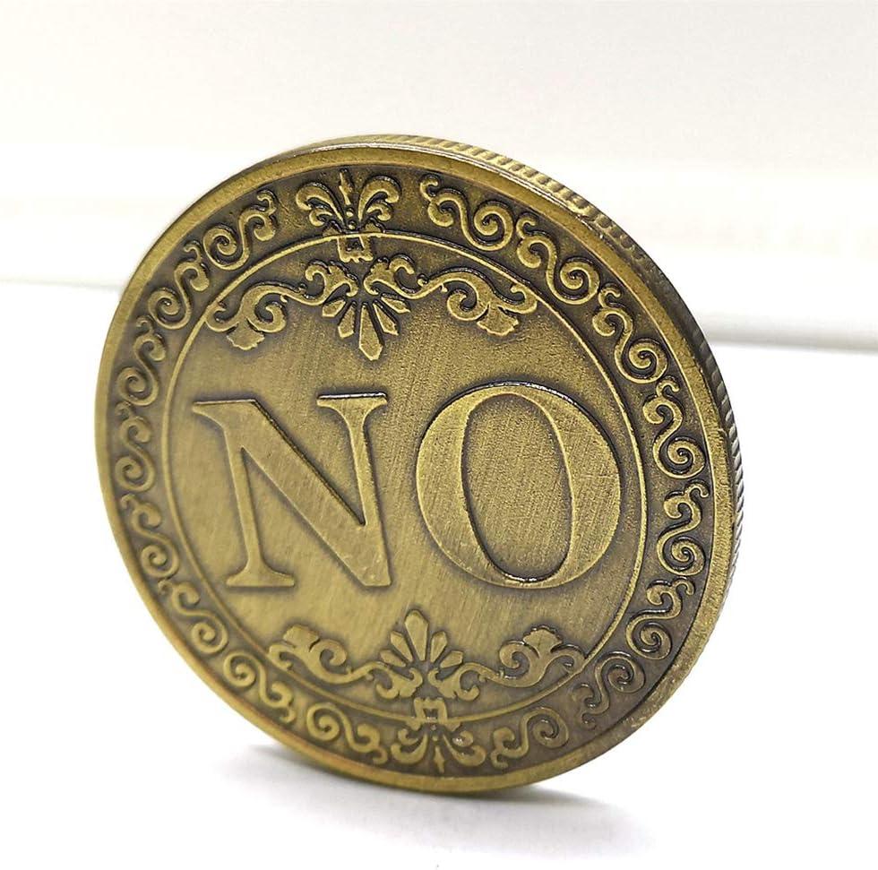 Baoblaze Challenge Coin Yes NO Coin Prendre Une D/écision des Objets De Collection pour Collectionner Les Amoureux Non