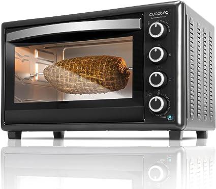 Cecotec Bake&Toast 750 Gyro - Horno Sobremesa, 2000 W, 12 Modos, Temperatura hasta 230ºC y Tiempo hasta 60 Minutos, Incluye Accesorio Rustidor con ...