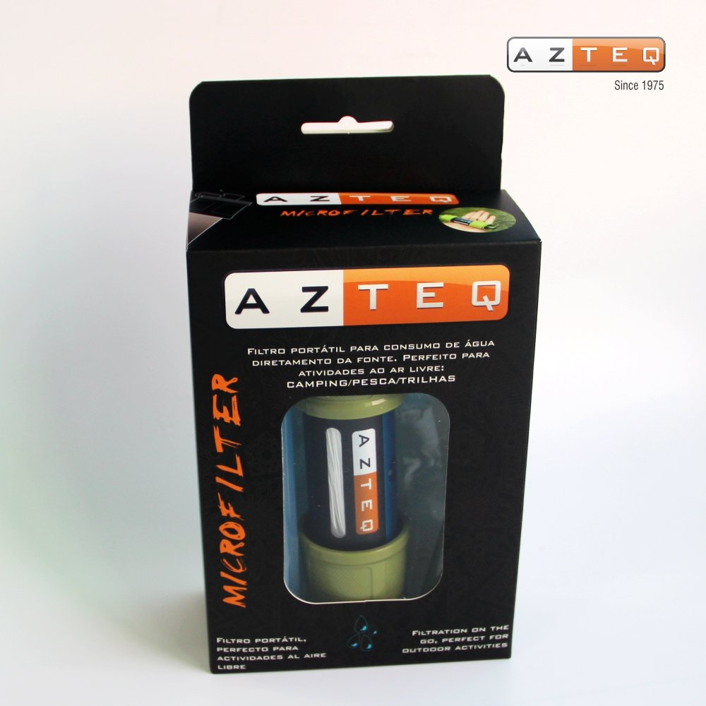 Azteq Microfilter Hiking Mini Portable Water Filtration,Personal On The Go Water Filter Reusable/Cleanable, Emergency Preparedness Kits for Travel & Backpacking, Camping and Survivalists. by Azteq (Image #3)