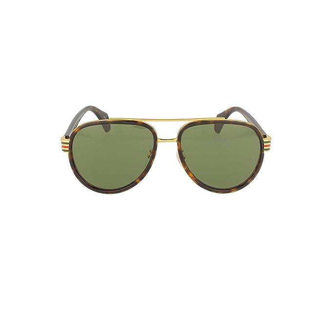 Gucci GG0447S Gafas de sol Hombre Marron: Amazon.es: Ropa y ...