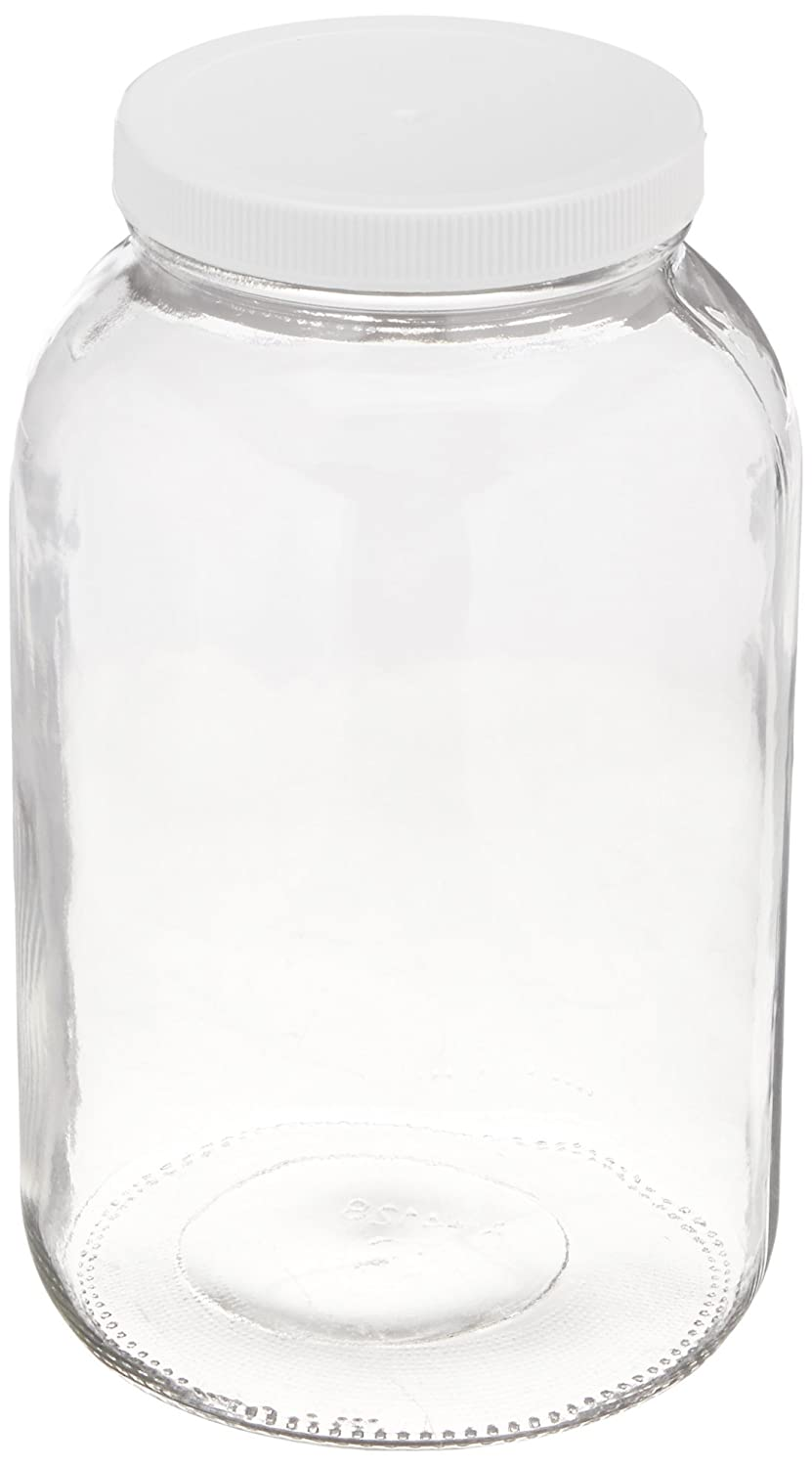 1-gallon USDA Fermentation Glass Jar AGC 1Gallonplaslid