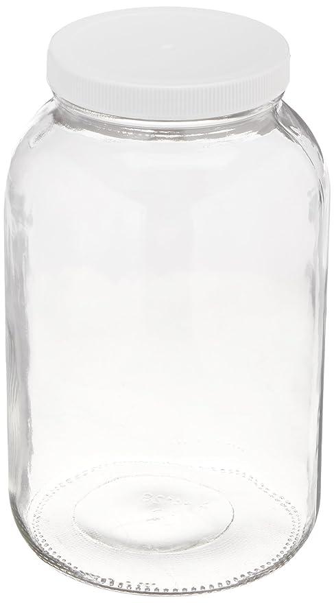 Amazon.com: Tarro de vidrio de 1 galón o 1/2 ...