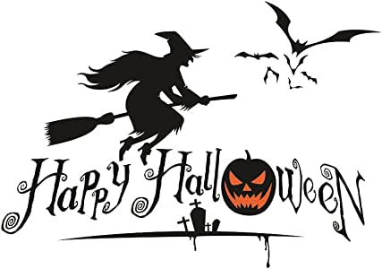 Halloween Bat Wall Decals Stickers Black Bats Witches Window Clings Decals Halloween Eve Decor Home Window Decoration