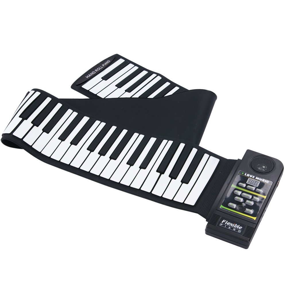 ammoon 88 Key Electronic Piano Keyboard Silicon Flexible Roll Up Piano with Loud Speaker