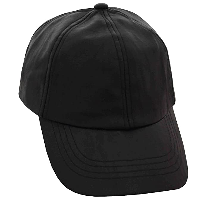 Image Unavailable. Image not available for. Color  DPC Men s Unstructured  Faux Leather Baseball Cap Black 53af479cd222