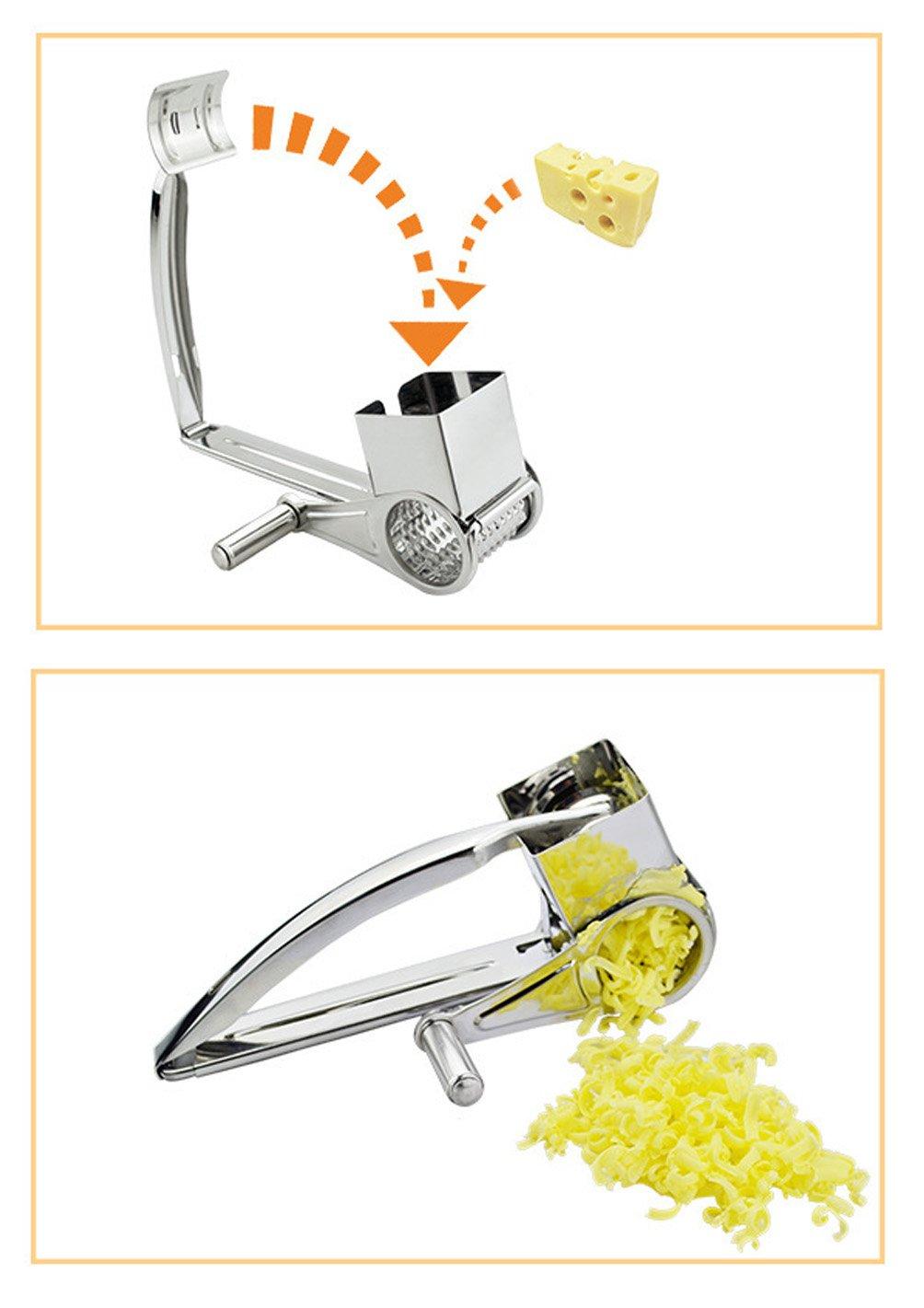 Acier inoxydable citron yfbear Rotation R/âpe zesteur R/âpe acier inoxydable pour fromage Medium l/égumes Silber