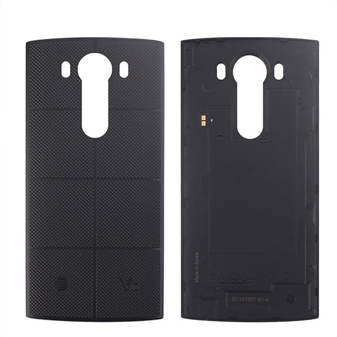 premium selection 8c2af 6ae0d Amazon.com: HYYT LG V10 Battery Door Back Cover Replacement (Black ...