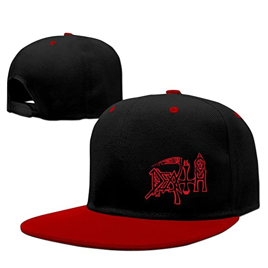 f86aedd3dfb Amazon.com  American Death Metal Band Death Rock Snapback Hats Red ...