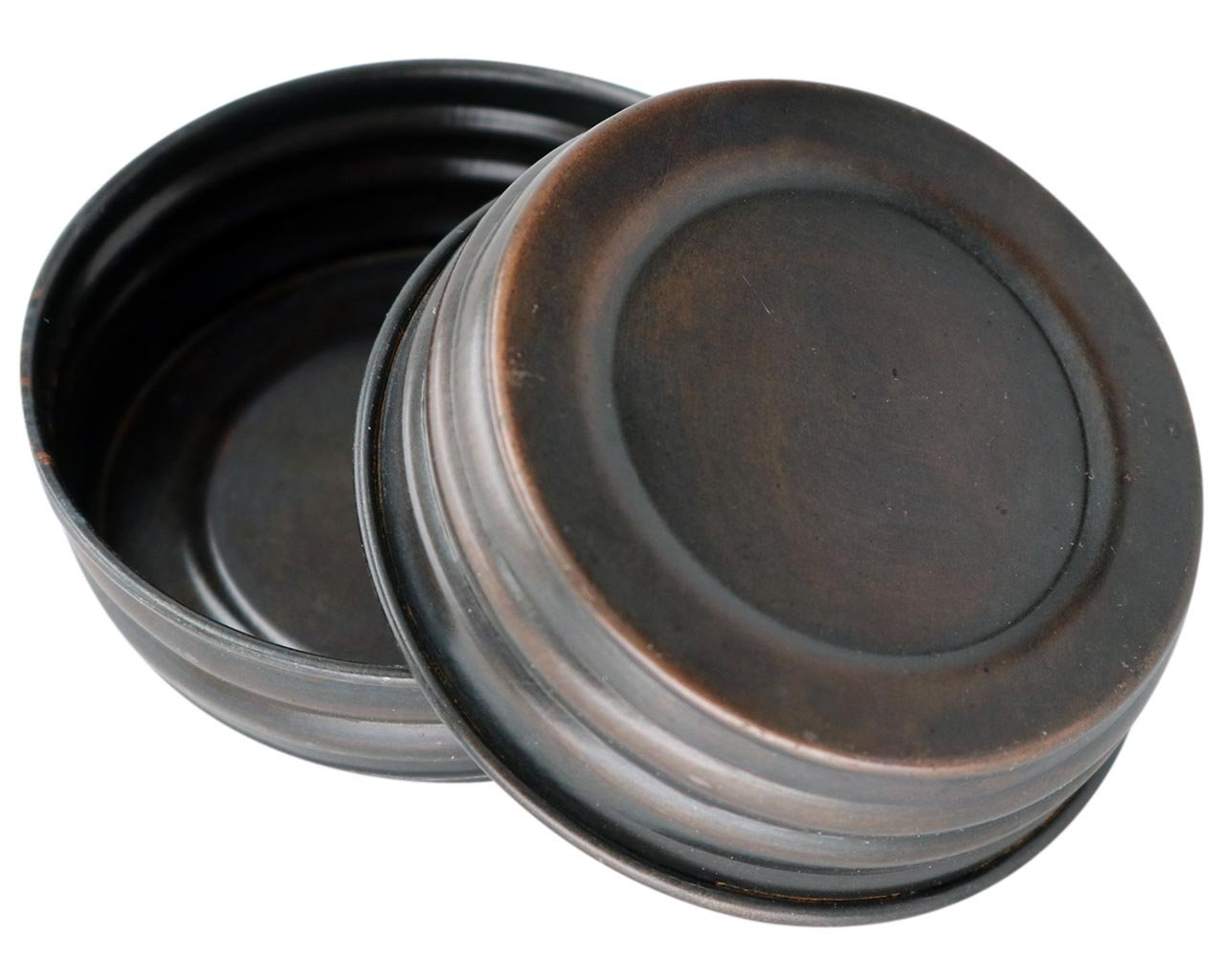 Oil Rubbed Bronze Vintage Reproduction Lids for Mason, Ball, Canning Jars (4 Pack, Regular Mouth)