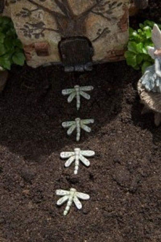 Dragonfly Stepping Stones Set 4 Miniature Fairy Garden WS 1532