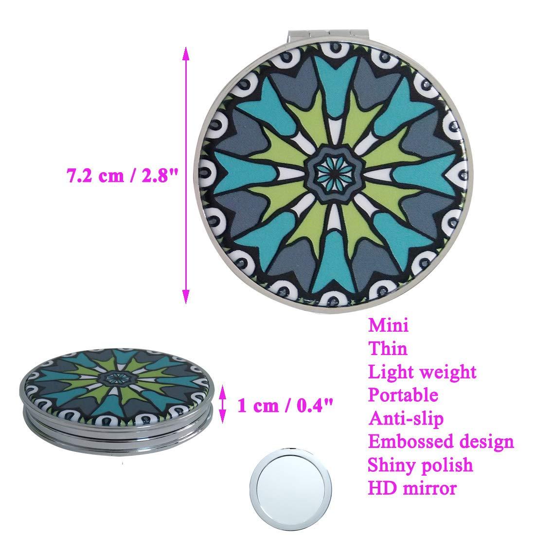 Amazon.com: Beaufy - Espejo compacto de mano para ...