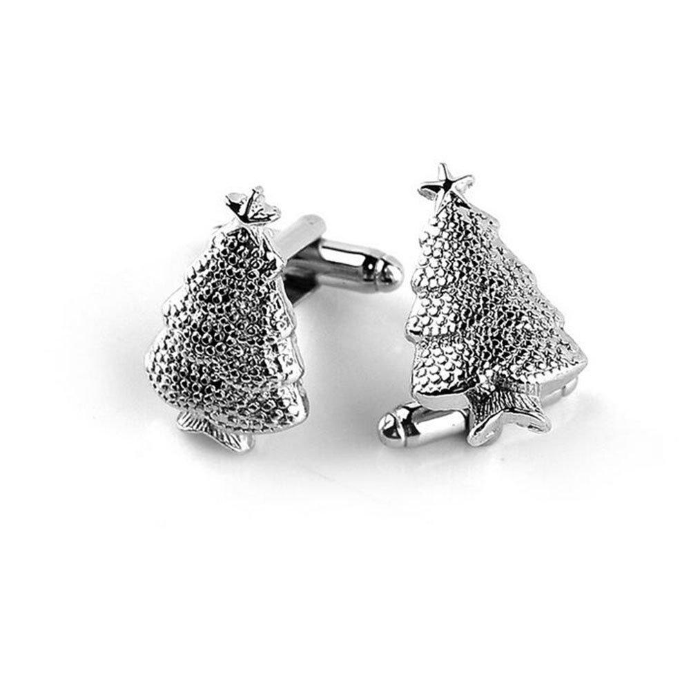 Hosaire 2x Boutons de Manchette Argent de vacances de No/ël M/âle chemisiers /à boutons de No/ël Cadeaux bijoux