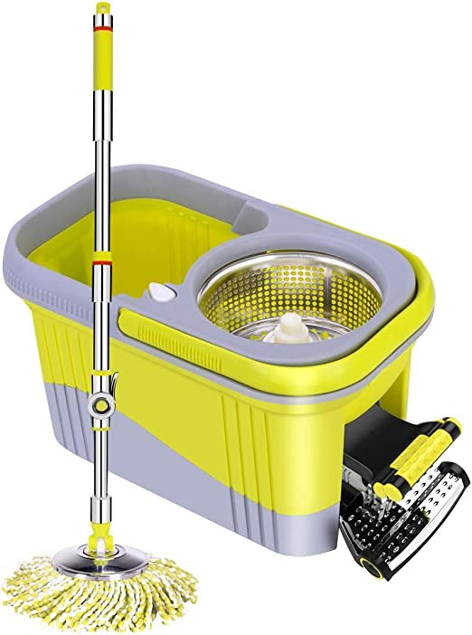Trapeador THBEIBEI Spinning Mop and Bucket Cleaning Set Pedal Hand ...
