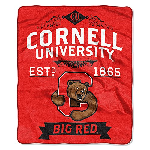(The Northwest Company NCAA Cornell Royal Plus Raschel Throw, One Size, Multicolor)