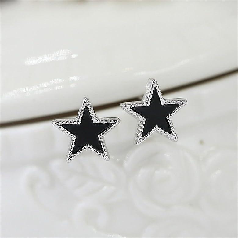 Ling Studs Earrings Hypoallergenic Cartilage Ear Piercing Simple Fashion Earrings Ear Jewelry Zircon Crystal Stud Earrings Sterling Silver
