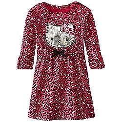 Hello Kitty Toddler Little Girls' Sequin Leopard Print Dress