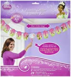 Amscan Dazzling Disney Tiana Enchanted Jumbo Add-An-Age Letter Birthday Party Banner Decoration (1 Piece), 10 1/2', Pink/Green