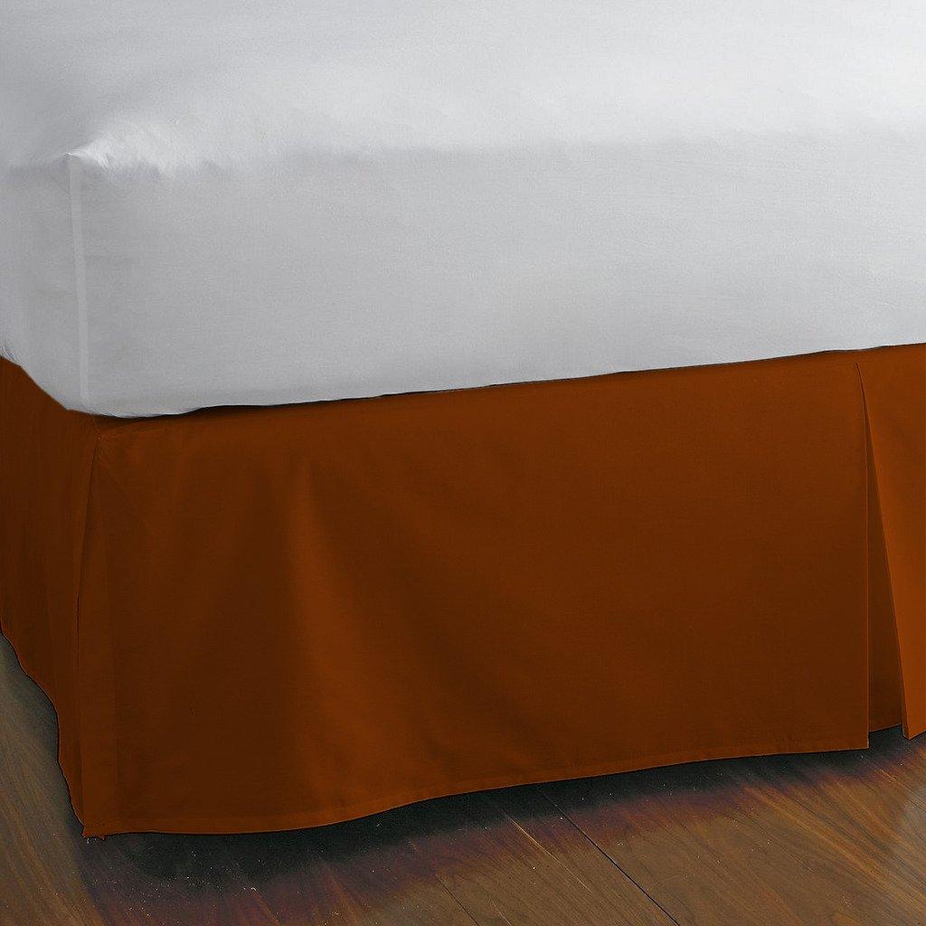 豪華な分割コーナーベッドスカート600スレッドカウント100 %エジプト12インチドロップby Kotton Cultureソリッド(アクアブルー、カリフォルニアキング) (可能なすべてのサイズと29色) フル レッド 1SCBDSO126TCABrRedF B0727QW1KH 赤レンガ フル