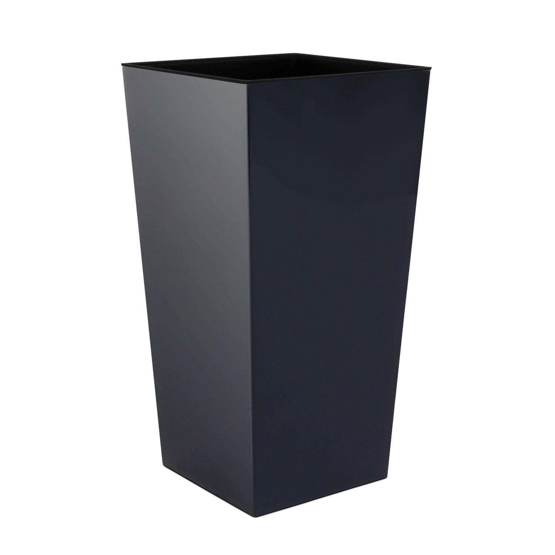 91,5 L Riesiger Pflanzkübel Blumentopf inkl. Einsatz Kunststoff anthrazit URBI SQUARE 7 Farben