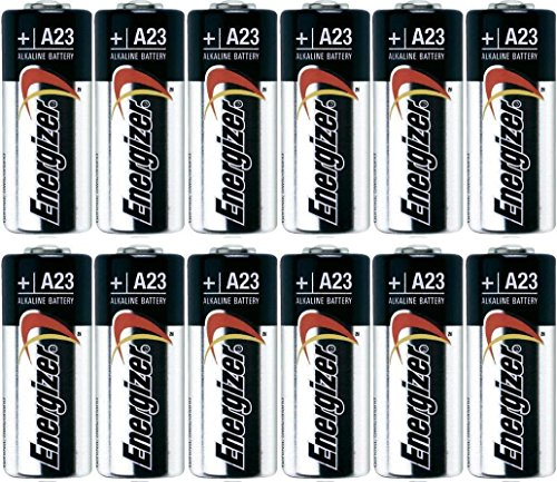 Pack of 10 Energizer A23 12 Volt Alkaline Battery - Bulk Pack - with FREE Clear Battery Storage Holder Case