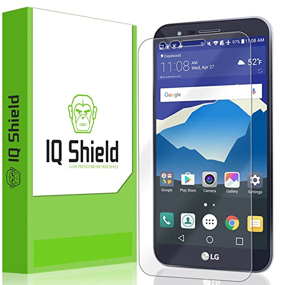 LG Stylo 3 Plus Screen Protector, IQ Shield LiQuidSkin Full Coverage Screen  Protector for LG Stylo 3 Plus HD Clear Anti-Bubble Film