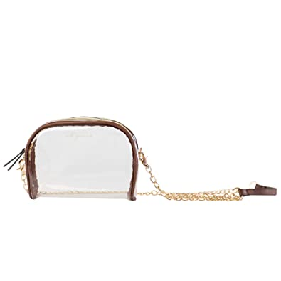 92f0eb864b Image Unavailable. Image not available for. Color  MB Greene Designer Clear  Stadium Approved Large Purse Cross Body Bag with Chain for Concerts and