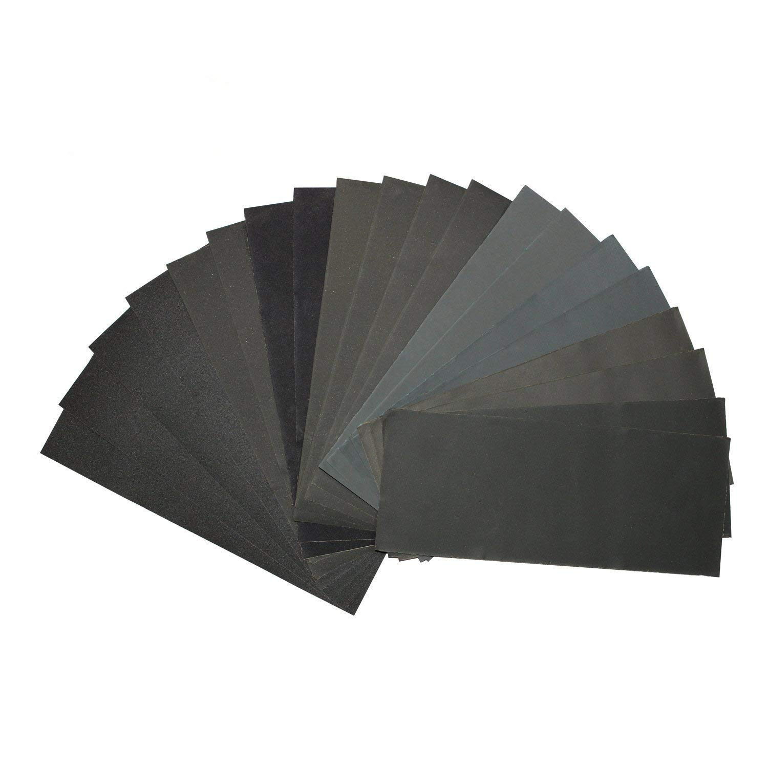 400//600//800//1000//1200//1500//2000//2500//3000 Grit Wood Furniture Finishing Wood Turning Finishing Wet//Dry Sandpaper Assortment for Automotive Sanding 20 Pieces 9 x 3.6 Inch