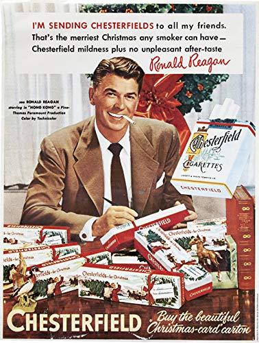 Chesterfield Cigarettes - Ronald Reagan 1952 Chesterfield Cigarettes Ad 11 X 14 Photo Print