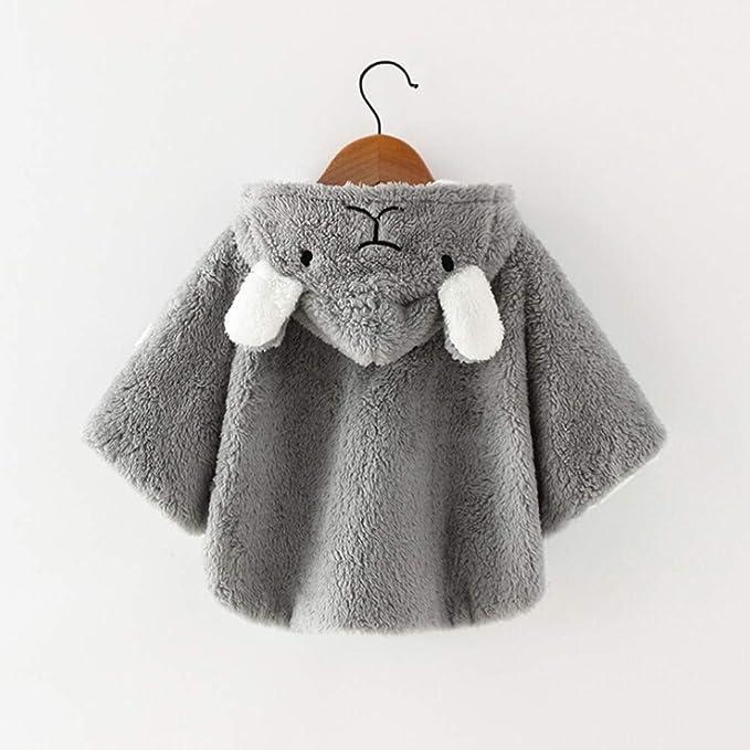 Asudaro Bambini Poncho Cappotto per Bambini Giacca in Cotone