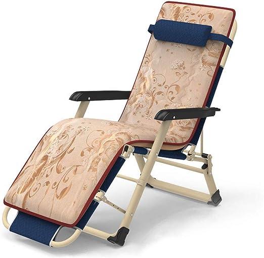 CHAIRQEW Sillón reclinable for Patio Silla Mecedora de jardín Sillón reclinable Plegable Asiento de Gravedad Cero Ajustable Tumbona Adecuado for Jardines Patios Piscinas: Amazon.es: Hogar