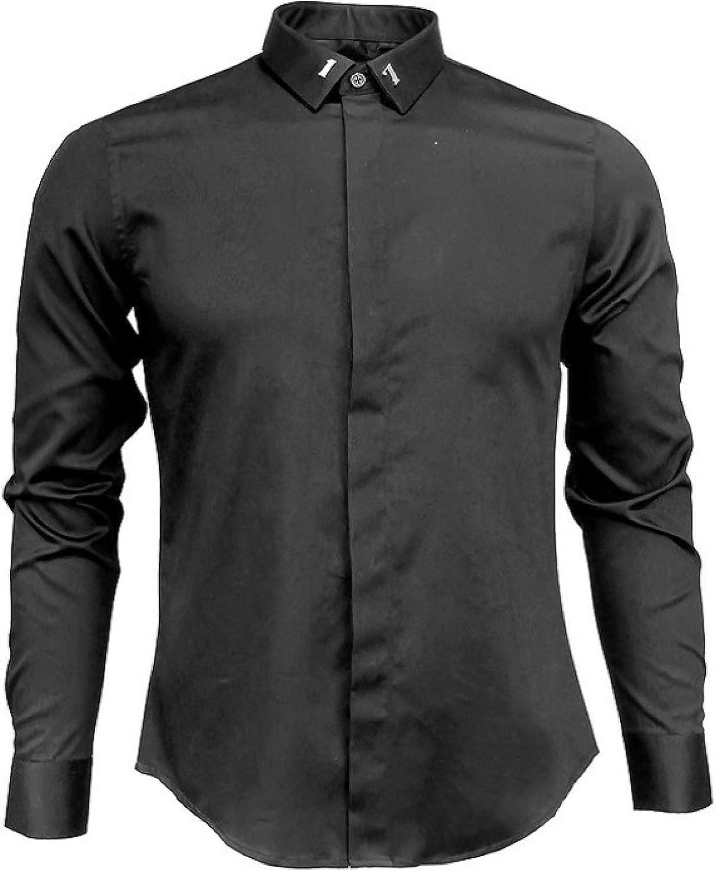 HOSD Nueva Camisa de Metal de Camisa de Hombre sin Hierro ...