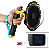 For Gopro Dome, Waterproof Case for GoPro Hero 5 6 Underwater Port Lens Cover with Pistol Trigger Shutter Release Camera Lens Case Accessories Set (Dome+Trigger SET) (Dome for GoPro Hero 5/6)