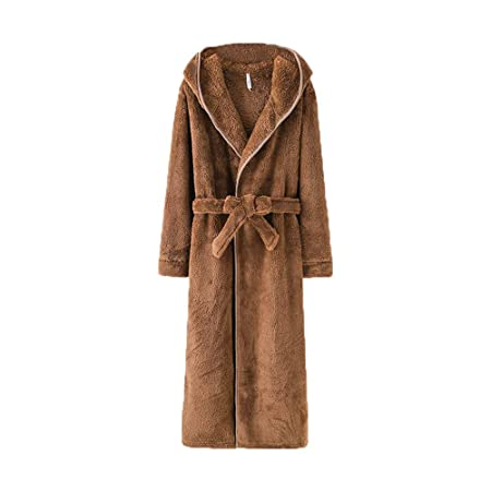 f88d922fd7 BCL-Pajamas Hooded Bathrobes Mens Luxury Dressing Gown Fluffy Bathrobe  Nightwear Loungewear Bath Towel (Color   Khaki