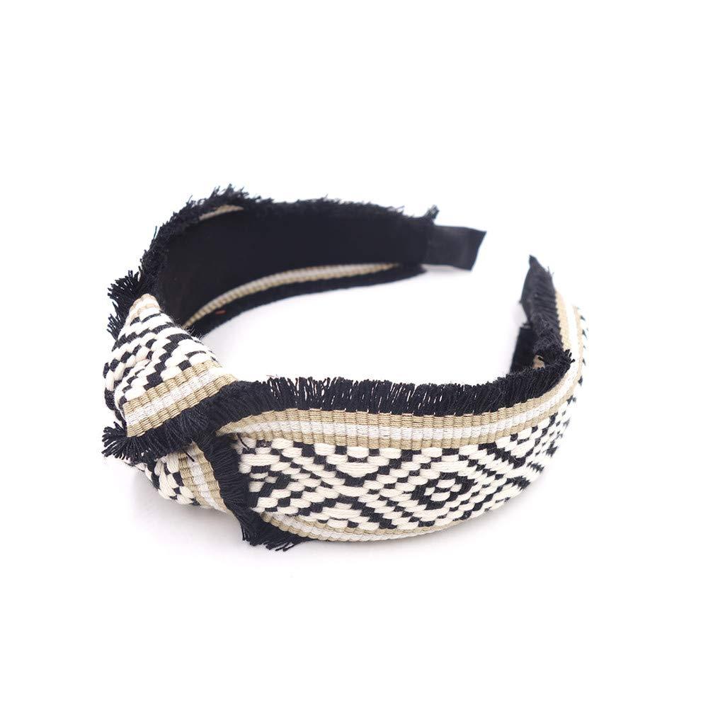Hairband Hair Accessories Headbandscontrast Braided Head Top Knotted Boho Craft Vintage